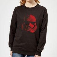 Star Wars Jedi Cubist Trooper Helmet Black Women's Sweatshirt - Black - M - Black