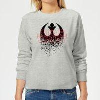 Star Wars Shattered Emblem Women's Sweatshirt - Grey - S - Grey