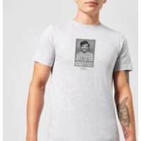 Narcos Geniuses Are Always Crazy Black And White T-Shirt - Grey - M - Grey - Crazy Gifts