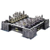 DC Comics Batman Pewter Chess Set with Illuminating Bat Signal - Toys Gifts