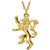 Game of Thrones Gold Plated House Lannister Sterling Silver Pendant - Game Gifts