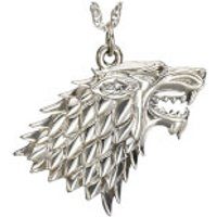 Game of Thrones House Stark Sterling Silver Pendant - Game Of Thrones Gifts