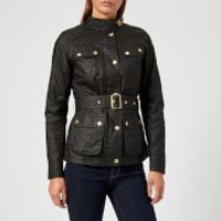 Barbour International Women's International Anglesey Wax Jacket - Black - UK 12 - Black