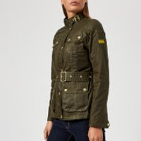 Barbour International Women's International Anglesey Wax Jacket - Olive - UK 8 - Green