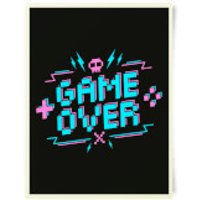 Game Over Gaming Art Print - Gaming Gifts