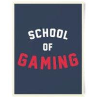 School Of Gaming Art Print - School Gifts