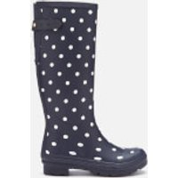 Joules Women's Welly Print Back Adjustable Tall Wellies - French Navy Spot - UK 8 - Navy