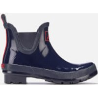 Joules Women's Wellibob Gloss Short Wellies - French Navy - UK 5