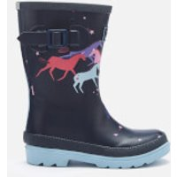 Joules Kids' Printed Wellies - Navy Magical Unicorn - UK 13 Kids - Navy