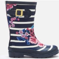 Joules Joules Kids' Printed Wellies - Chinoise Stripe - UK 2 Kids - Blue