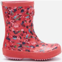 Joules Joules Toddlers' Printed Wellies - Deep Pink Inky Ditsy - UK 7 Toddler - Pink
