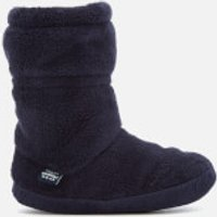 Joules Kids' Padabout Fleece Lined Slipper Socks - French Navy - M - Navy