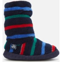 Joules Kids' Padabout Fleece Lined Slipper Socks - Multi Stripe - XS - Blue