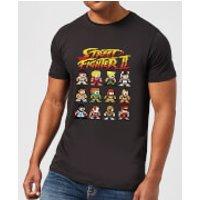 Street Fighter 2 Pixel Characters Men's T-Shirt - Black - S - Black