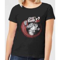Street Fighter RYU Sketch Women's T-Shirt - Black - XXL - Black