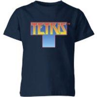 Tetris Block Kids T-Shirt - Navy - 3-4 Years - Navy