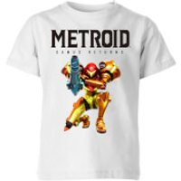 Nintendo Metroid Samus Returns Colour Kid's T-Shirt - White - 11-12 Years - White
