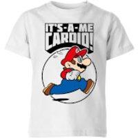 Nintendo Super Mario Cardio Kid's T-Shirt - White - 7-8 Years - White