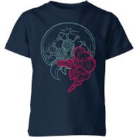 Nintendo Super Metroid Samus And Mother Brain Kid's T-Shirt - Navy - 11-12 Years - Navy - Mother Gifts