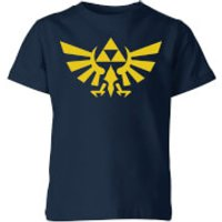 Nintendo The Legend Of Zelda Hyrule Kid's T-Shirt - Navy - 9-10 Years - Navy