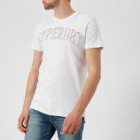 Superdry Mens Varsity AOP Embossed T-Shirt - Optic - S - White
