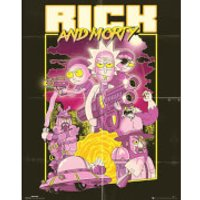 Rick and Morty Action Movie Mini Poster 40 x 50cm - Movie Gifts
