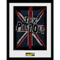 Sex Pistols Flag 12 x 16 Inches Framed Photograph - Sex Pistols Gifts