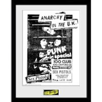 Sex Pistols 100 Club 12 x 16 Inches Framed Photograph - Sex Pistols Gifts