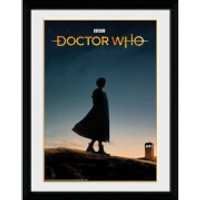 Doctor Who 13th Doctor Silhouette 12 x 16 Inches Framed Photograph - Doctor Who Gifts