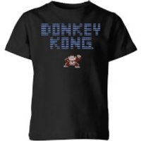 Nintendo Donkey Kong Retro Logo Kid's T-Shirt - Black - 3-4 Years - Black
