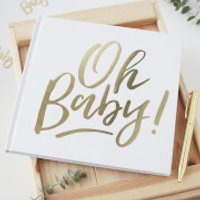 Ginger Ray Guest Book - Oh Baby - Baby Gifts