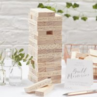 Ginger Ray Build a Memory Building Blocks Guest Book - Beautiful Botanics - Building Gifts
