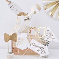 Ginger Ray Oh Baby Photo Booth Props - Baby Gifts