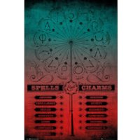 Harry Potter Spells and Charms Maxi Poster 61 x 91.5cm - Charms Gifts