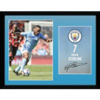 Manchester City Sterling 17/18 12 x 16 Inches Framed Photograph - Manchester City Gifts