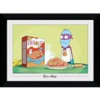 Rick and Morty Eyehole Man 50 x 70cm Framed Photograph - Man Gifts
