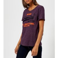 Superdry Women's Shirt Shop New Slim T-Shirt - Buffalo Blackberry - M - Purple