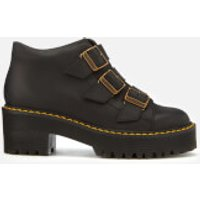 Dr. Martens Women's Coppola Leather Buckle Heeled Boots - Black - UK 6