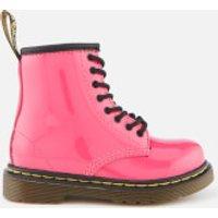 Dr. Martens Kids 1460 T Patent Lamper Lace Up Boots - Hot Pink - UK 7 Kids