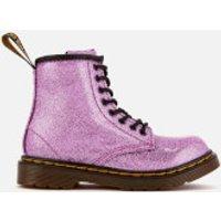 Dr. Martens Kids 1460 T Glitter Lace Up Boots - Dark Pink - UK 13 Kids
