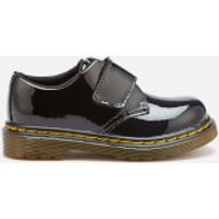 Dr. Martens Dr. Martens Toddlers' Kamron T Patent Lamper Single Velcro Flats - Black - UK 8 Toddler - Black