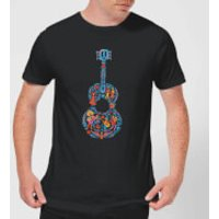 Coco Guitar Pattern Men's T-Shirt - Black - S - Black