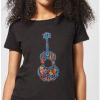 Coco Guitar Pattern Women's T-Shirt - Black - XXL - Black - Music Gifts