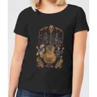 Coco Guitar Poster Women's T-Shirt - Black - L - Black - Music Gifts
