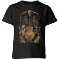 Coco Guitar Poster Kids' T-Shirt - Black - 9-10 Years - Black - Music Gifts