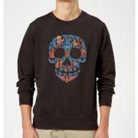 Coco Skull Pattern Sweatshirt - Black - 3XL - Black