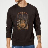 Coco Guitar Poster Sweatshirt - Black - S - Black - Music Gifts