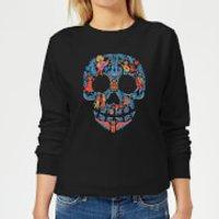 Coco Skull Pattern Women's Sweatshirt - Black - 4XL - Black