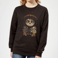Coco Miguel Face Poster Women's Sweatshirt - Black - L - Black