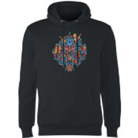 Coco Tree Pattern Hoodie - Black - XL - Black